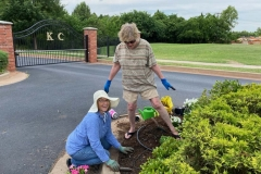 Flower Bed  Volunteers 2